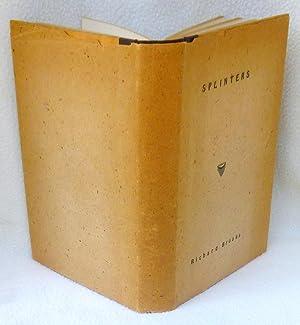 Splinters - SIGNED 1st Edition/1st Printing: Brooks, Richard