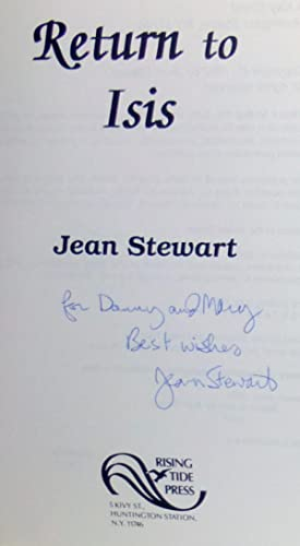 Return to Isis - SIGNED 1st Edition/1st Printing: Stewart, Jean