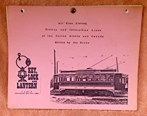 All Time Listing, Trolley and Interurban Lines of the United States and Canada: Gross, Joe