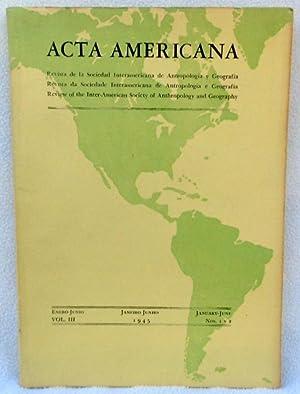 Acta Americana: Review of the Inter-American Society: Watson, James B.;Rubio,