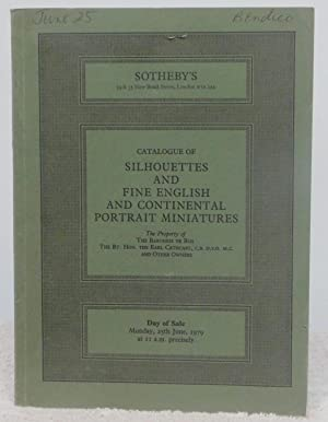 Catalogue of Silhouettes and Fine English and: No Author Indicated