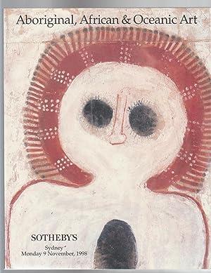 SOTHEBY'S Aboriginal, African & Oceanic Art Sydney Monday 9 November, 1998