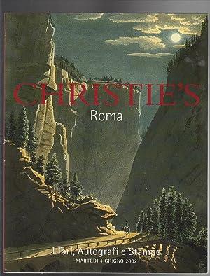 CHRISTIE'S Roma. Libri, Autografi e Stampe. Martedi