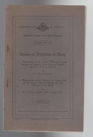 STUDIES ON DEGLUTITION IN SHEEP. 1 Course taken by liquids through the stomach.2. Influence of co...