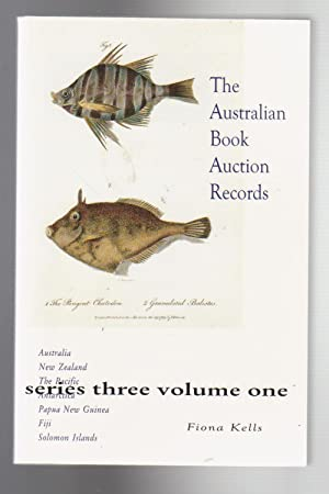 THE AUSTRALIAN BOOK AUCTION RECORDS. Series Three, Volume One