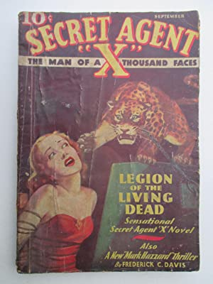 Secret Agent X. The Man of a Thousand Faces. September 1935. Vol.6 No. 3. (monthly pulp): House, ...