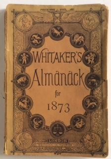 AN ALMANACK FOR THE YEAR OF OUR: Whitaker,Joseph