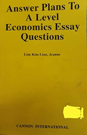 Answers Plans To A Level Economics Essay Question
