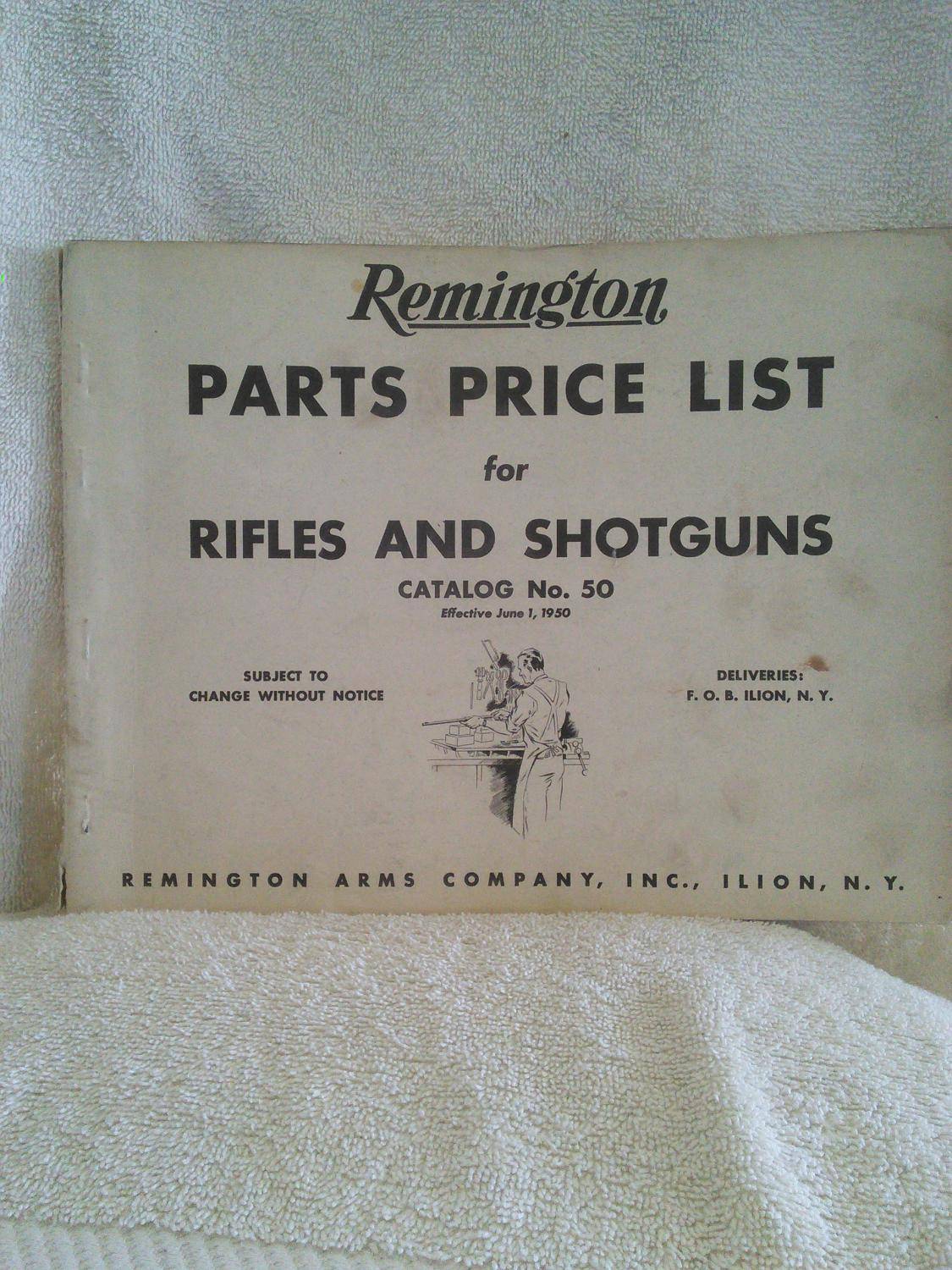 Remington Parts Price List for Rifles and