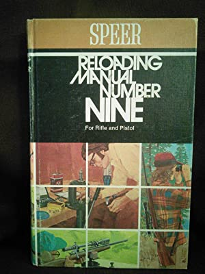 Speer Reloadng Manual Number Nine, for Rifle and Pistol
