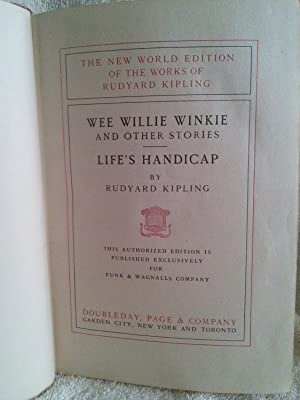 Wee Willie Winkie and Other Stories, and: Rudyard Kipling