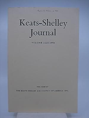 Keats-Shelley Journal: Keats, Shelley, Byron, Hunt, and: Editor-Steven Jones