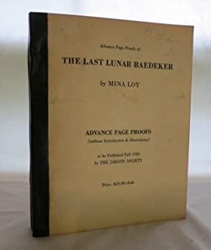 The Last Lunar Baedeker: Loy, Mina