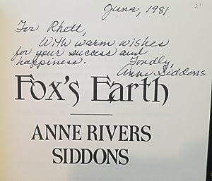 Fox's Earth: Siddons, Anne Rivers
