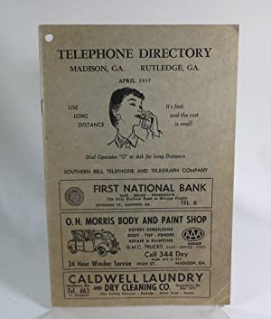 Telephone Directory; Madison, Ga., Rutledge, Ga (1957): Southern Bell