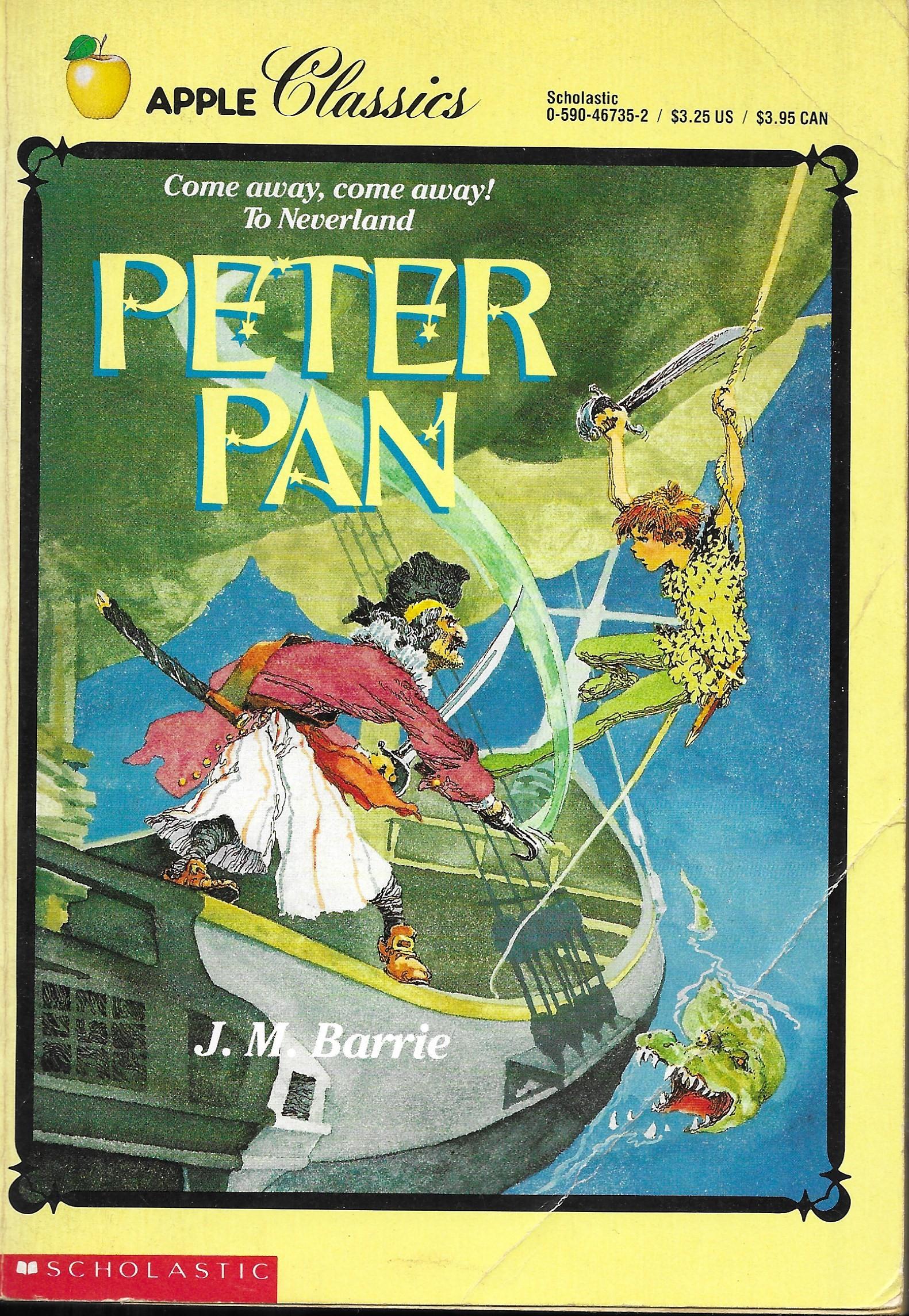 J.M BARRIE DEL PRADO MINIATURE BOOK CLASSICS THE ADVENTURES OF PETER PAN