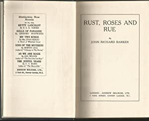 Rust, Roses and Rue. Poems