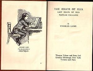 Essays of Elia; Last Essays of Elia;: Lamb, Charles