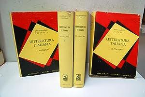 I maggiori (2 volumi), le correnti (2: Letteratura Italiana Orientamenti
