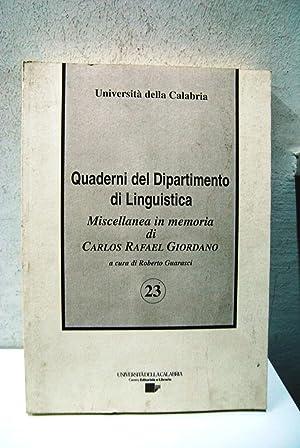 Quaderni del dipartimento di linguistica, miscellanea in