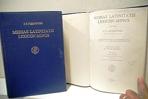 mediae latinitatis lexicon minus + abbreviationes et