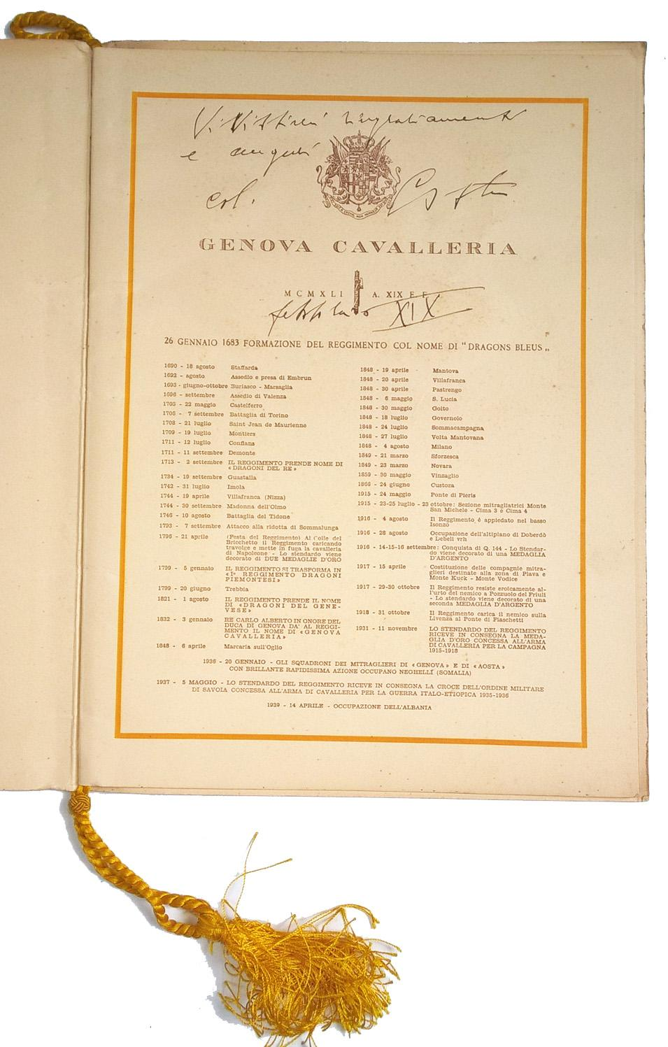 Calendario 1936.Calendario Militare Reggimento Genova