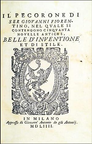 Il Pecorone di ser Giovanni Fiorentino, nel: Fiorentino, Giovanni