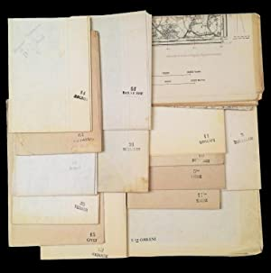 15 folded maps, used by Italian Army officers during the First World War, 1914-1918, showing terr...