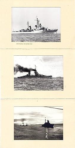 Set di 3 fotografie di navi da