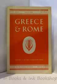 Greece & Rome, Second Series Vol. VII (7), No. 1 (March 1960)