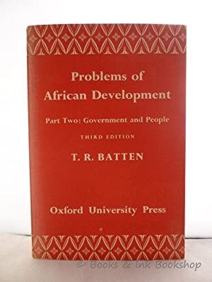 Problems of African Development. Part Two: Government and People