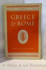 Greece and Rome. Second Series Vol. XV, No. 2 October 1968