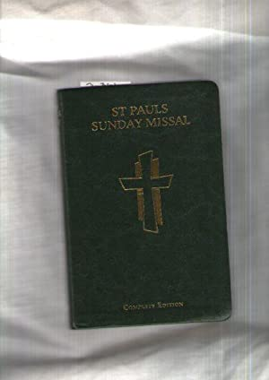 Saint Paul Sunday Missal : Sunday Masses For The Three-Year Cycle : Texts Approved For Use In Aus...