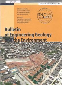 Bulletin Of Engineering Geology And The Environment : Volume 73 : Number 4 : November 2014
