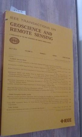 Remote Sensing In Geoscience Volume 52 Number 7 : Issn 01962892