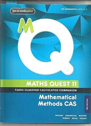 Maths Quest 11 Mathematical Methods Cas 3E