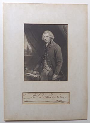 Autograph;: SHERIDAN, Richard Brinsley:
