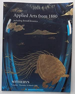 Applied Arts from 1880 including British Ceramics;