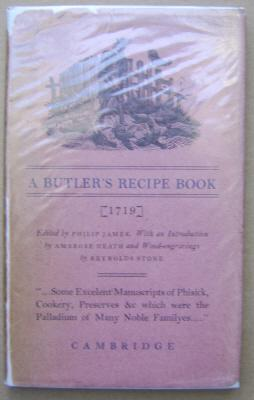 A Butler's Recipe Book;: STONE, Reynolds: