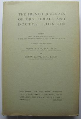 The French Journals of Mrs Thrale and Doctor Johnson;: TYSON, M & GUPPY, H: