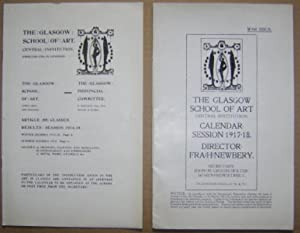 Glasgow School of Art results, Session 1914-15, with Calendar Session 1917-18;