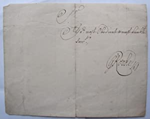 autograph; 'Sir your most obedient and most humble servant': ROOKE, Sir George:
