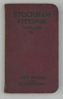"Stockham Pipe & Fittings Co. - Catalog ""G"" - 1924 -- List Prices and Dimensions: N/A"