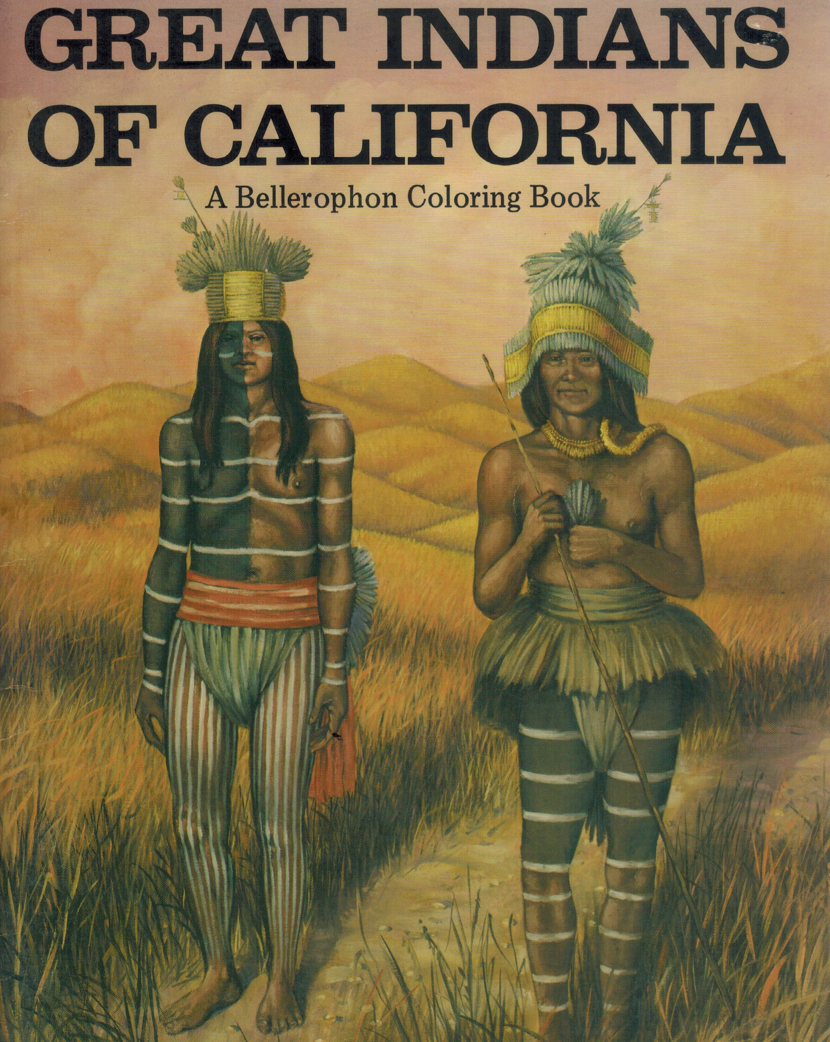 GREAT INDIANS OF CALIFORNIA A Bellerophon Coloring Book by Knill ...