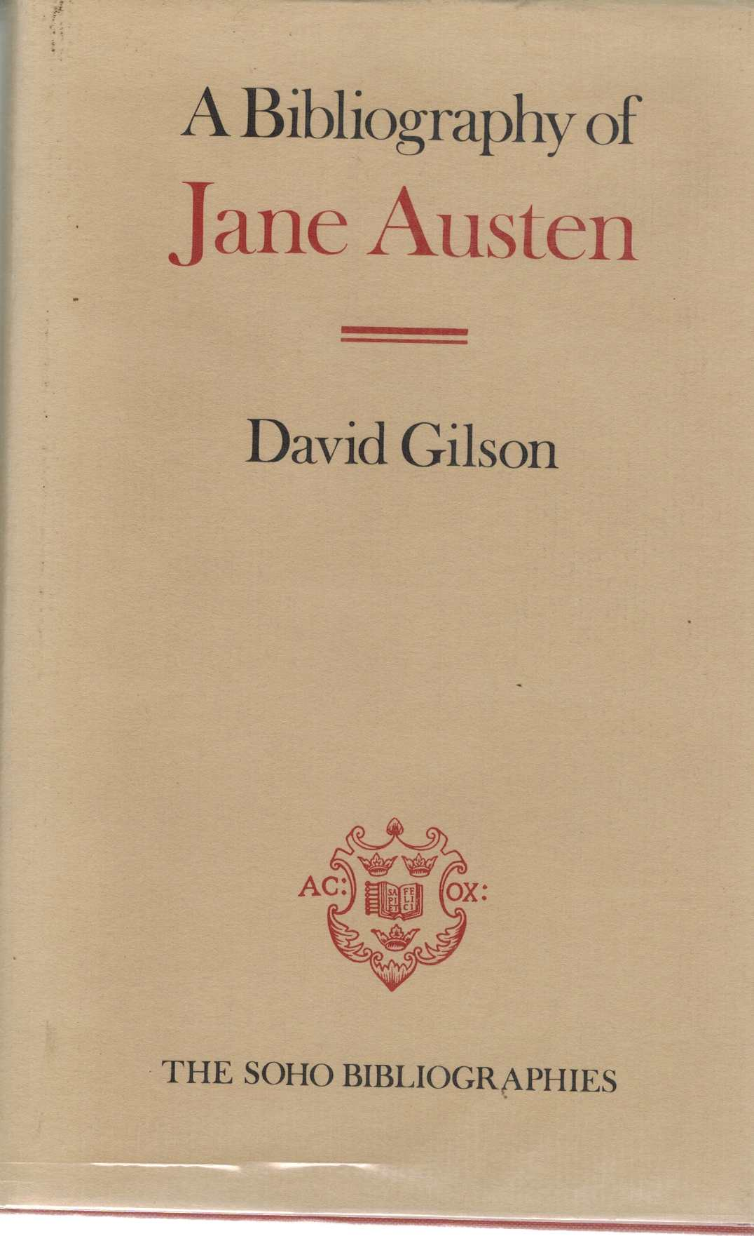 Bibliography of Jane Austen - Gilson, David
