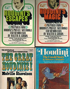 HOUDINI BIOGRAPHIES 4-VOLUME SET Houdini's Magic, Houdini's: Gibson, Walter, Milbourne