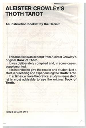 Thoth Tarot by Aleister Crowley - AbeBooks