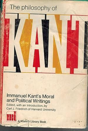 THE PHILOSOPHY OF KANT Immanuel Kant's Moral: Kant, Immanuel &