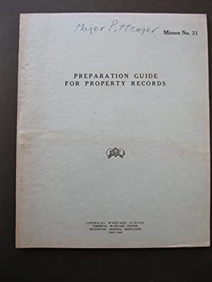 PREPARATION GUIDE FOR PROPERTY RECORDS - Mimeo: Anonymous