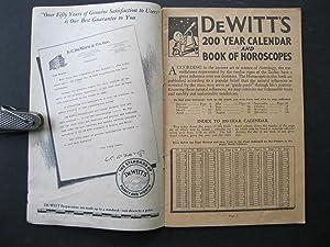 DeWITT'S 200 YEAR CALENDAR AND BOOK OF HOROSCOPES: DeWitt, E C